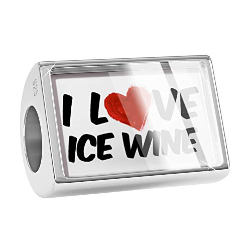 NEONBLOND Charm I Love Ice Wine Wine 925 Sterling Silver Bead ()