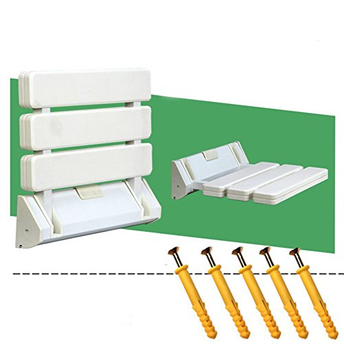 Shower seat,Folding seats Wall mount Corridor Changing shoes Bathroom Elderly Bath Seat boards-B (Plastic Seat Mount Toilet Wall)