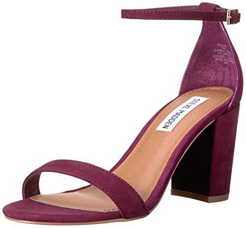 Steve Madden Women's Declair Dress Sandal, Burgundy Nubuck, 8 M US -