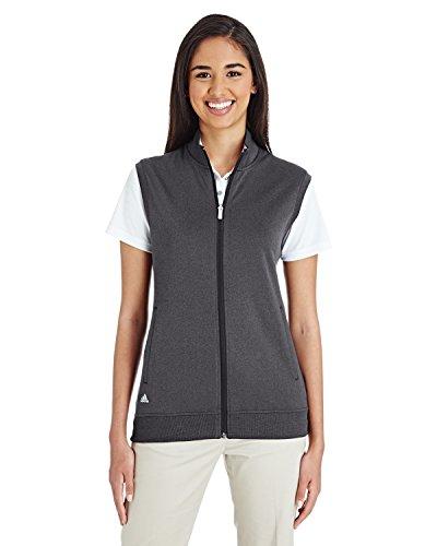 adidas Golf Womens Full-Zip Club Vest (A272) -Black Heat -2XL