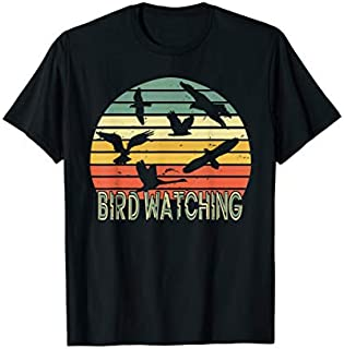 Bird Watching Birding Vintage Retro  Bird Watcher gift T-shirt | Size S - 5XL