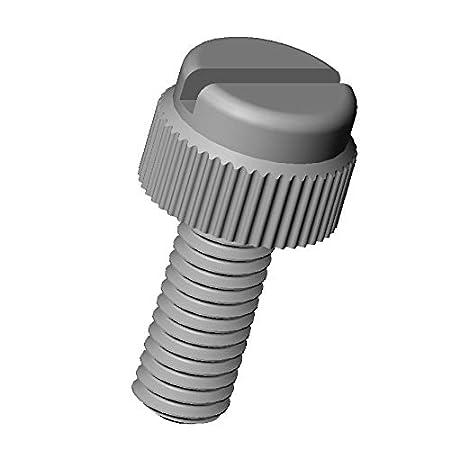 ajile L/änge = 30 mm Polyamid PA6.6 Plastik Nylon Isolierend M5 R/ändelschraube mit Schlitz 20 St/ücke