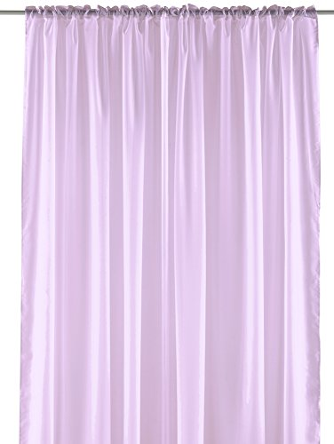 Pastel Sheer Curtain Panel - Elegant Window Long Panel, Beautiful See Through Drapery Panel, Home Décor Window Curtain with Hanging Rod Pocket - 55