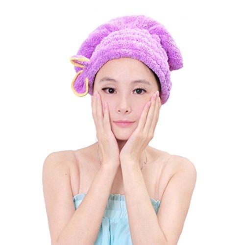 Holiberty Women Cute Bowknot Soft Coral Fleece Ultra Absorbe