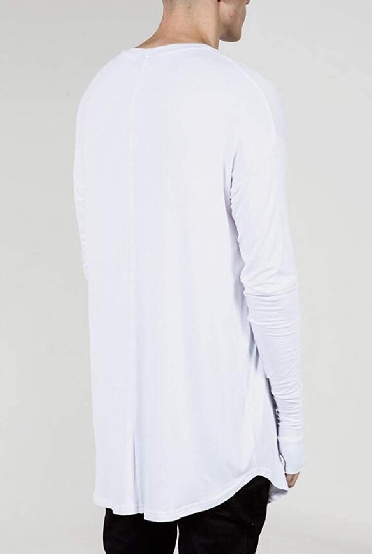 DressUMen Basic Solid-Colored Pullover Plus Size Top Tees Polo