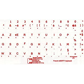 Adesivitastiera it letters french keyboard stickers amazon it letters french keyboard stickers transparent bottom letters red spiritdancerdesigns Images