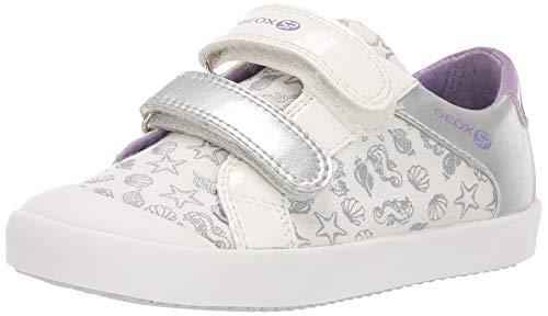 - Geox Gisli Girl 19 SP Velcro Sneaker, White/Light Violet 23 Medium US Toddler