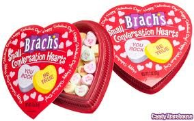 Brach's Small Conversation Hearts, 2oz Heart Box, Health Care Stuffs