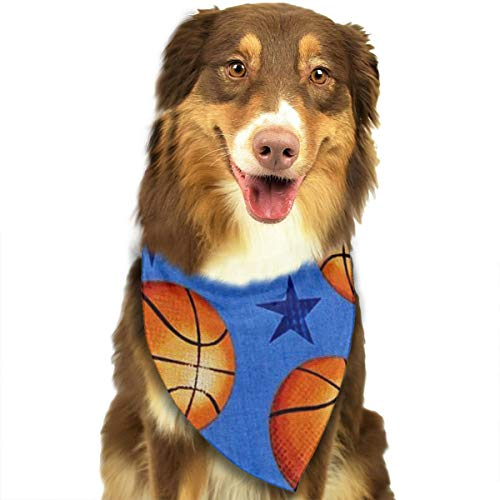 OURFASHION Star and Basketball Bandana Triangle Bibs Scarfs Accessories for Pet Cats and Puppies.Size is About 27.6x11.8 Inches (70x30cm). -