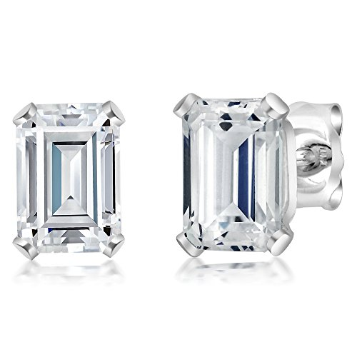 (1.32 Ct White 925 Sterling Silver Earrings Made With Swarovski Zirconia)
