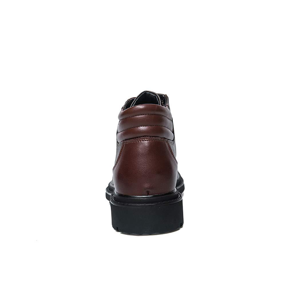 Dundun-Stiefel 2018 Neue Kommende Stiefel, Männer Casual Casual Casual versteckte Ferse High Top Fashion Stiefelette Schnüren Freizeitstiefel (Farbe   Braun, Größe   40 EU) a68ebb