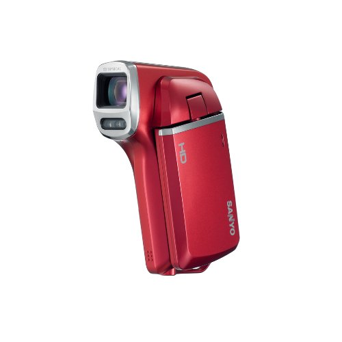 Sanyo VPC-HD100 5.0 MP Camcorder - 1080p with Digital Player / Voice Recorder - Red