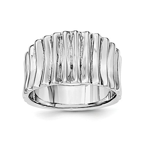 ICE CARATS 925 Sterling Silver Ridged Band Ring Size 6.00 Fine Jewelry Ideal Gifts For Women Gift Set From Heart - New Sterling Silver Ridged Band