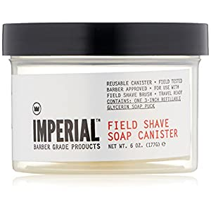 Imperial Barber Field Shave Soap Canister, 6.2 oz.