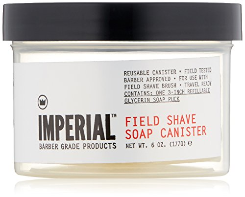 Imperial Barber Field Shave Soap Canister, 6.2 oz. ()