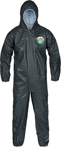 Lakeland Pyrolon CRFR Flame-Resistant Disposable Coverall with Hood, Elastic Cuff, 2X-Large, Slate Gray (Case of 6)