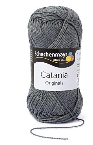 Alle Farben wählbar Catania 0242 STEIN Schachenmayr Qualität Strickgarn Häkelgarn: 100% gekämmte Baumwolle. 1A Geschenk Wolle Häkeln & Stricken +Geschenke Button ©MakenGO je Sendung