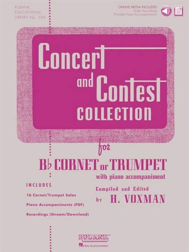 Hal Leonard Rubank Concert And Contest Collection Trumpet/Cornet Book/CD