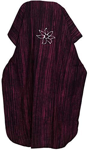 donne d321 Marrone delle cotone 100 caftano allentato da costumi LEELA lungo maxi vestito batik LA casuale beachwear bagno q6xTAnBBH