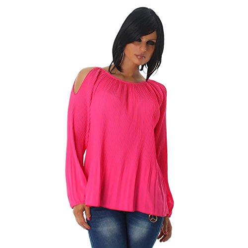Voyelles - Camisas - Túnica - Básico - Manga Larga - para mujer Rosa