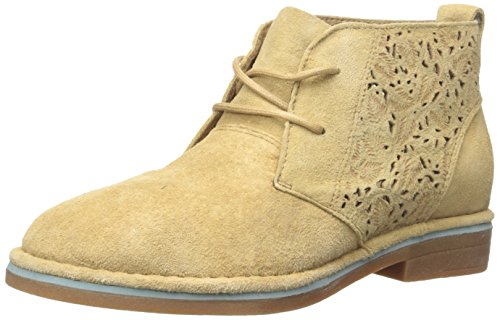 Hush Puppies Women's Cyra Catelyn Boot, Chino Tan Perforated Suede, 6.5 W US