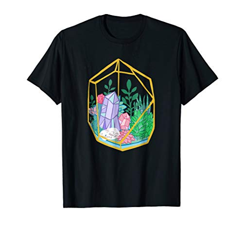 Pastel Goth Terrarium Crystals Succulents Garden Witch Tee ()