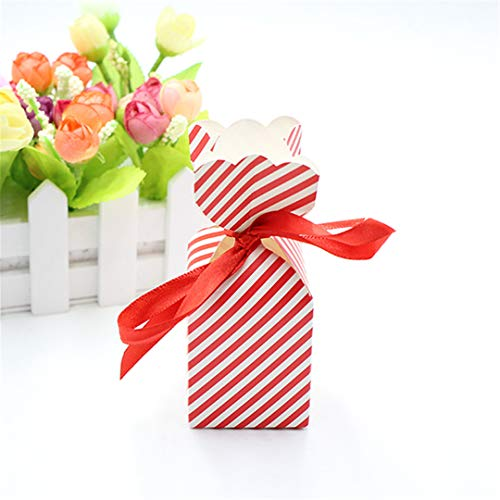 50Pcs Cartoon Shape Of The Vase Paper Bags Baby Shower Souvenirs Gift Favor Candy Box Kids Girls Birthday Party es Red]()