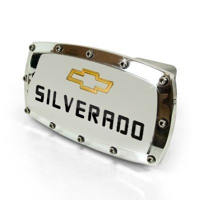 Chevrolet Silverado Billet Aluminum Tow Hitch Cover by CHEVROLET