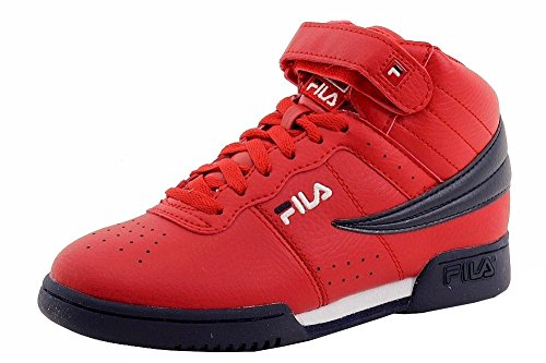 fila-boys-f-13-red-navy-white-leather-mid-top-basketball-sneakers-shoes-sz-4