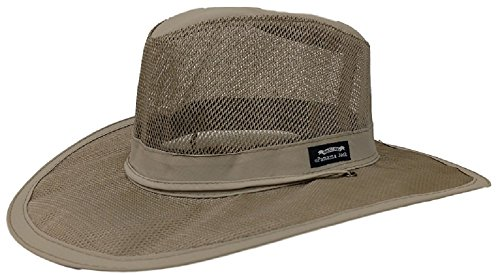 [Panama Jack Castaway Safari (Medium, Khaki)] (Straw Safari Hat)