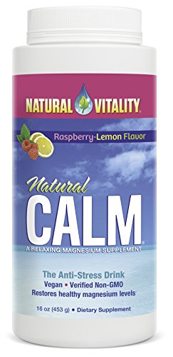 Natural Vitality Natural Calm Diet Supplement, Raspberry Lemon, 16 Ounce ()