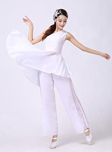 Amazon.com : Classical Dance Set Performance Clothes Contemporary Dance Dress Modern Dance Dress White and elegant : Sports & Outdoors