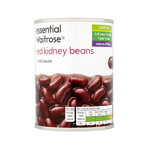 Red Kidney Beans in Chilli Sauce essential Waitrose 395g - Pack of 4 by WAITROSE