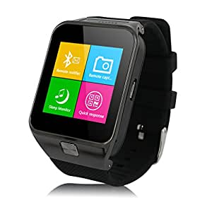 2015 Newest ZGPAX S29 Bluetooth V3.0 Smart Watch With Camera Unlocked 2G SIM Phone Watch Smart Bracelet Sync Call Music Reminder Anti-lost Sports Partner Capacitive Touchscreen Smartphone Mate for iphone 6 iPhone 6 Plus 5S 5C Samsung Galaxy S5 Note 3 HTC One LG G3 (Black), [Importado de Reino Unido]