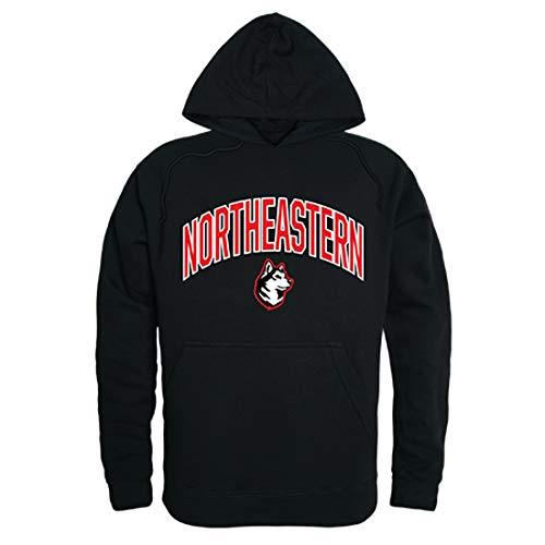 (Northeastern Huskies NCAA Men's Campus Hoodie Fleece Sweatshirt - Black,)