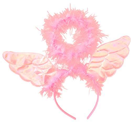 Angel Headband with Wings Halo Headband Costume Cosplay Accessories Party Decorations - -