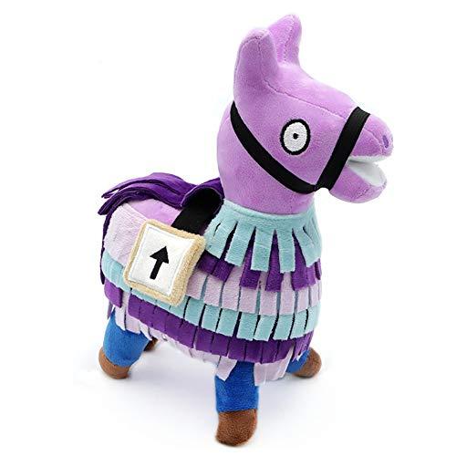 Tino Kino Loot Llama Plush Stuffed Doll Firgure Soft Troll Stash Animal Alpaca Gift for Kids Children (7.9