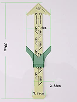 HONEYSEW No-Hassle Triangles Gauge Sewing Tool with Free Seam Gauge Ruler