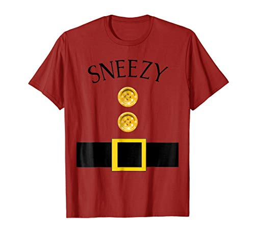 Cute Sneezy Halloween Group Costume T Shirt |