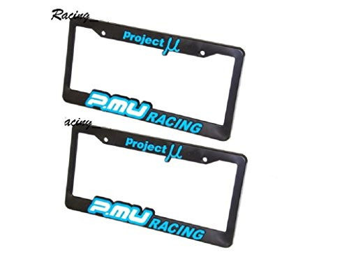 2 X PROJECT MU PMU LICENSE PLATE FRAME BLUE WHEELS LUGS NUTS BRAKE PADS ROTOR NS
