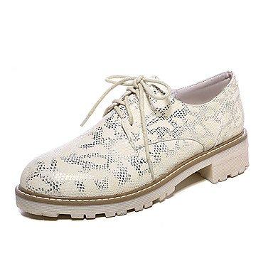 Cómodo y elegante soporte de zapatos de las mujeres pisos primavera verano otoño otros sintética oficina y carrera vestido casual soporte de talón cordones negro amarillo verde blanco blanco