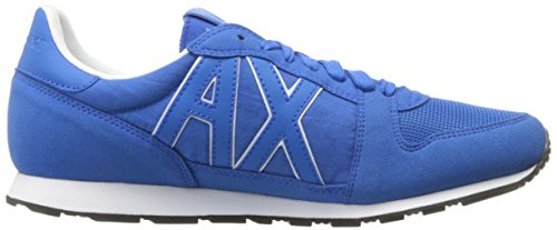 Lapis A Sneaker Retro Running Exchange Men Armani X Cobalt Fashion Sneaker Blue wrfnfzOqB