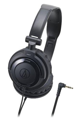 Audio Technica ATH-SJ33 BK Black | DJ Style Portable Headphones (Japan Import) by Audio-Technica