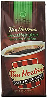 Tim Hortons Ground Decaf Coffee, Medium Roast, 12-Oz Bag from Tim Hortons