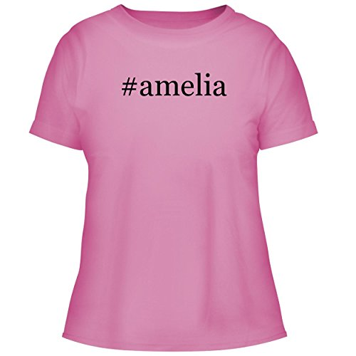 BH Cool Designs #Amelia - Cute Women's Graphic Tee, Pink, (Amelia Earhart Luggage)
