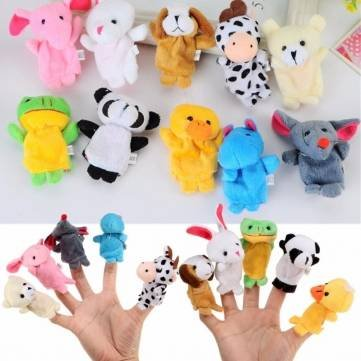 [10X Farm Zoo Animal Finger Puppets Toys Boys Girls Party Toys by Completestore] (Abc Party Costume Ideas)