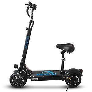 41nZCLpXNbL. SS300 GUNAI Monopattino Elettrico Pieghevole 10 Pollici Scooter da Città con Sedile Doppio Motore da 2000W con LED e Display…