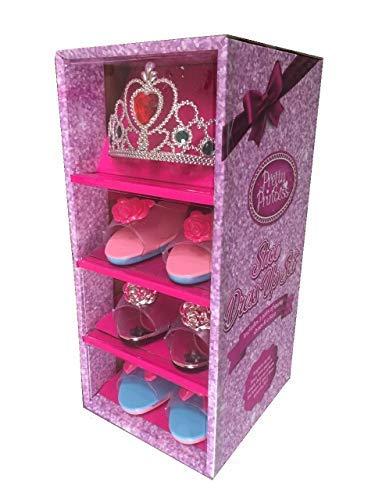 Girls Pink Pretty Princess Shoes Diamante Dress Up Fancy Gift Set (Set of 3  Shoes 4fde10ca5142
