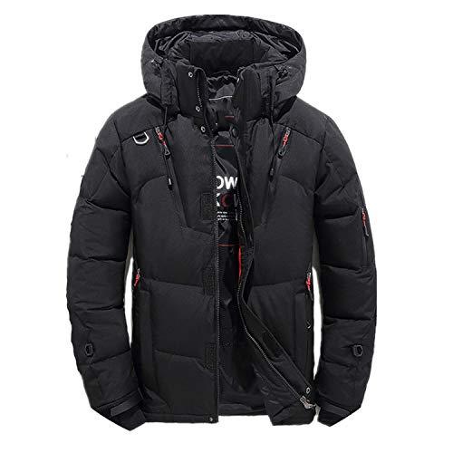 90% White Duck Thick Down Jacket Snow Parkas Male Warm Clothing Down Jacket Outerwear,Black,XXL