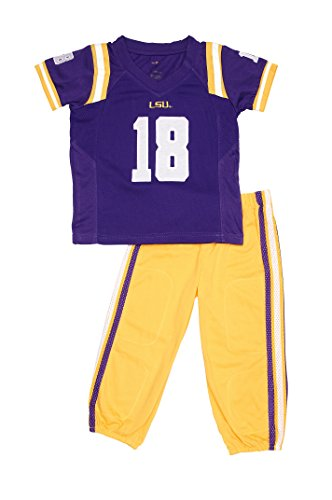 FAST ASLEEP LSU Tigers Home Uniform Pajama Set New ()